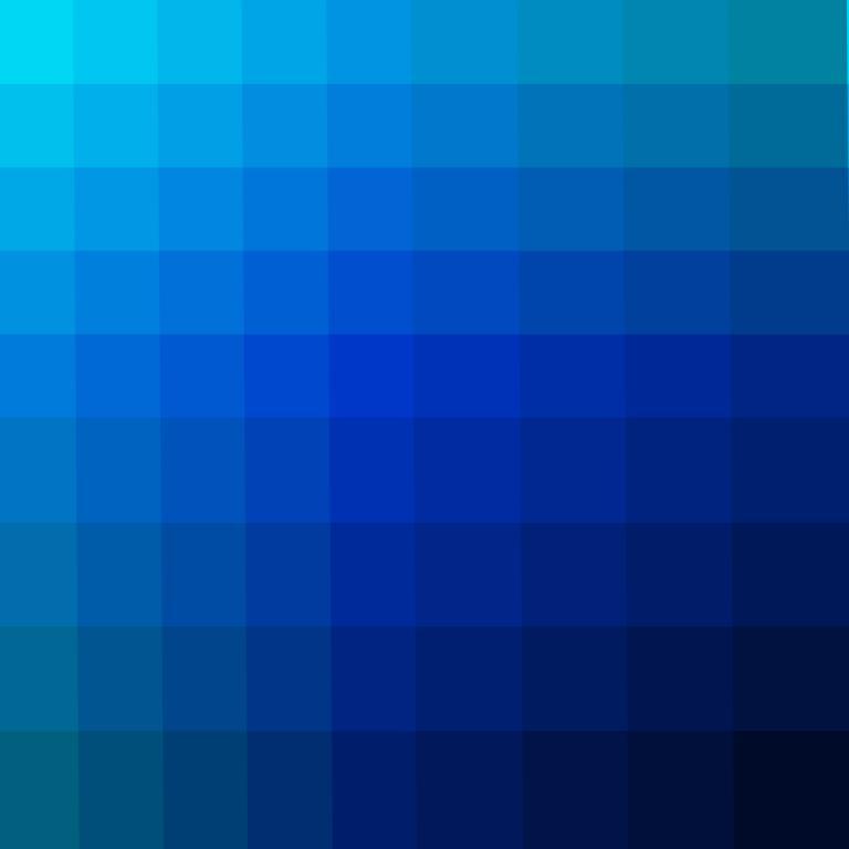 Blaue Kollektion