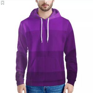 zappwaits-purple Men's All Over Print Hoodie