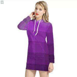 zappwaits-purple Women's Hoodie Dress